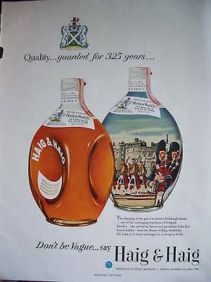 1953 Haig & Haig Scotch Whiskey Guarded 325 Years Ad