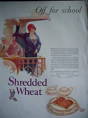1927 Shredded Wheat Cereal Train caboose to School Ad