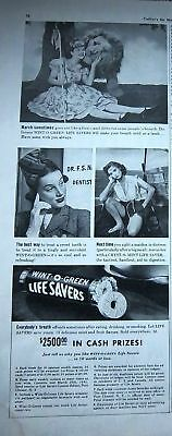 1941 Life Savers Candy March Out Like a  Lion Ad