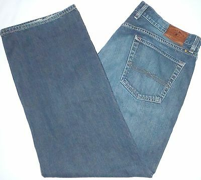38x30 Lucky Brand 181 Relaxed Fit Straight Leg Dark Blue Jeans 100% Cotton Denim