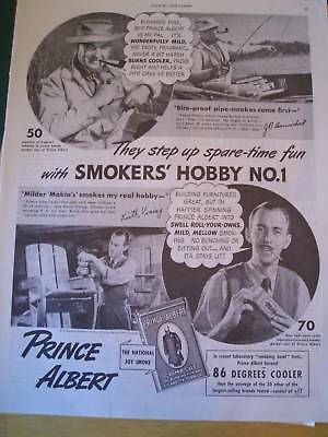 1938 PRINCE ALBERT TOBACCO  1st choice in hobbies ad