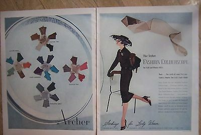 1955 Vintage Archer Fashion Colourscope Hosiery stockings for Lovely Women Ad