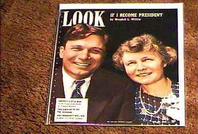 Look Magazine 1940  Oct 22  Fine+ File Copy Wedell Willkie Women Of Navy More