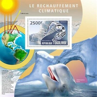 Togo - 2014 Global Warming on Stamps - Stamp Souvenir Sheet - 20H-1000