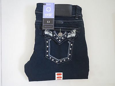 Outback/ Wild Child -  Ladies Bling Mid Rise Bootleg Stretch Jeans - Size Aus 12