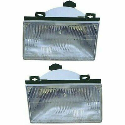 Halogen Headlight Set For 1992-1994 Ford Tempo Left & Right w/ Bulbs Pair