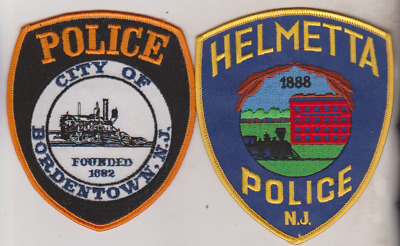 Auburn & Somersworth NH police older patches