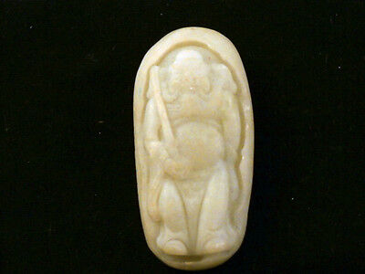 Exquisite Antique Chinese HeTian Jade *Legendary Figure* Pendant O110