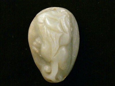 Exquisite Antique Chinese HeTian Jade *Lucky Beast PiXiu* Pendant O112