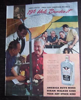 1938 Hiram Walker's Gin Golf 19th Hole G Heatter Ad