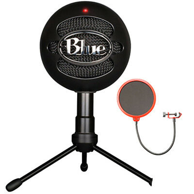 BLUE MICROPHONES Snowball iCE Versatile USB Microphone - Black w/ Wind Screen