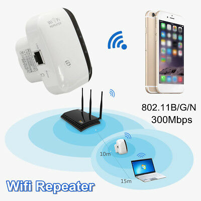 Wifi Repeater Wireless N 802.11 300Mbps Range AP Router Signal Extender Booster