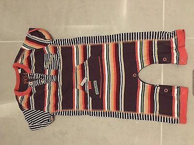 FG4 all In One, Bodysuit Outfit, 3-6 Months, Striped