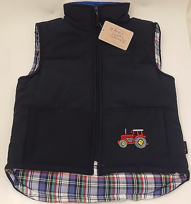 British Country Collection Navy Childs Tractor Bodywarmer - Sizes Small & Large