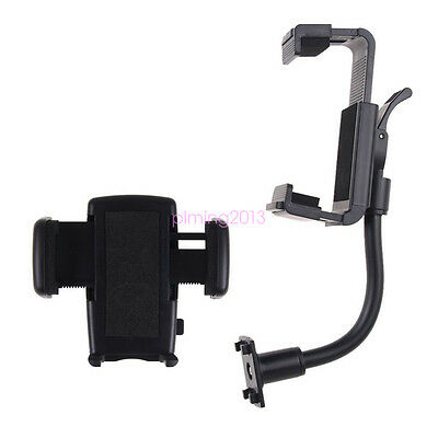 Car Rearview Mirror Mount Holder Stand Cradle For Cell Phone GPS Universal 360°