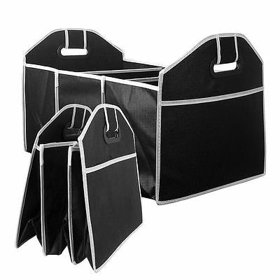 Durable Big Car Auto Trunk Organizer With 3 Compartment Portable Folding Flat