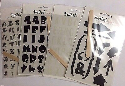 Bella Alphabet Rub-Ons: Pack #2 (Four sheets) **BRAND NEW**