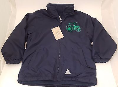 British Country Collection Navy Fleece Lined Tractor Jacket  - Sizes 3-8 Years