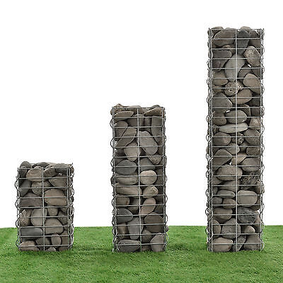 [NEU.HAUS] Gabions Set of 3 115+75+45cm Stone Baskets Column