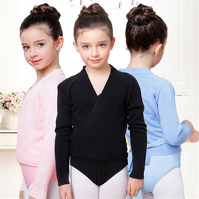 NEW GIRLS KNITTED BALLET WRAP/CARDIGAN AGES 2-8YRS Pink/Blue/Black