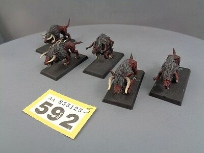 Warhammer Age of Sigmar Beasts Of Chaos Daemons Warhounds Ready for Basing 592