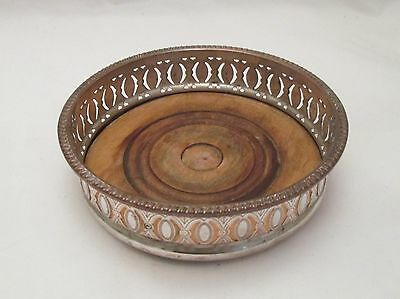 A Fine Old Sheffield Plate Wine / Champagne Coaster - c1790 - Pierced Design