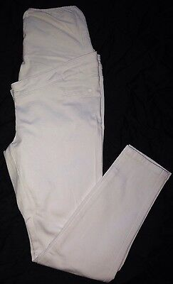 New NEXT Maternity White Skinny Over The Bump Stylish Legging Jeans Size 14 Reg