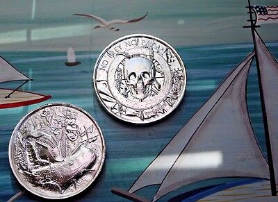PRIVATEER WHITE WHALE 2 oz .999 SILVER ROUND ULTRA HIGH RELIEF ELEMETAL IN HAND