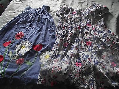 2 x girls dresses age 11-12 mini bodes and bluezoo