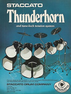 Staccato Thunderhorn drums Print ad