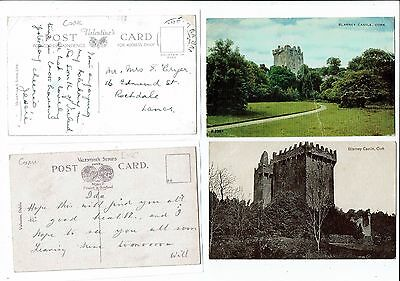 Post Cards Two Of Blarney Castle. Cork