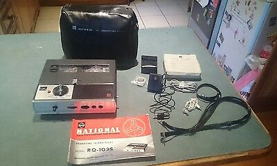 Vintage National Reel To Reel Portable Tape Recorder With Accessories Works Well