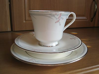 Royal Doulton Carnation Trio, Cup, Saucer And Plate