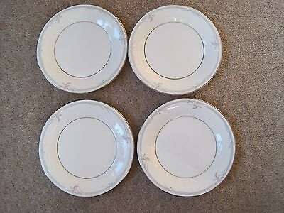 4 x  BEAUTIFUL ROYAL DOULTON CARNATION SIDE PLATES