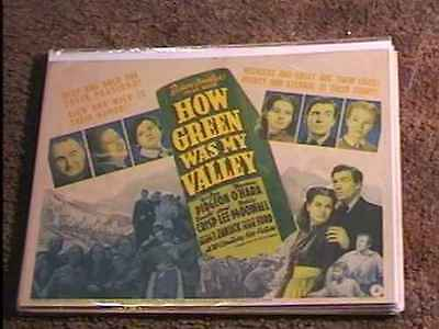 How Green Was My Valley 1941 Lobby Card #1 Classic