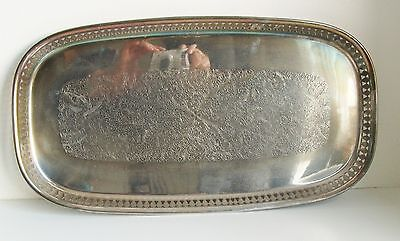 Vintage Scandia Silver Plate Drinks Tray Serving 43cm
