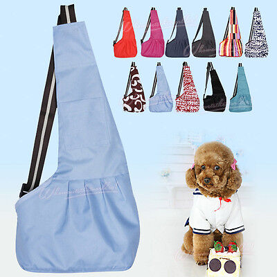 Puppy Pet Dog Cat Oxford Cloth Sling Carry Travel Kennel Tote Shoulder Backpack
