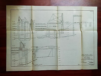 1913 Panama Canal Diagram Pacific Terminals Showing Dock Construction