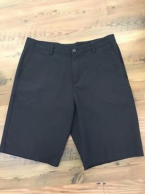 ADIDAS Climacool LIGHTWEIGHT Black Flat Front Golf Casual Shorts Sz 34