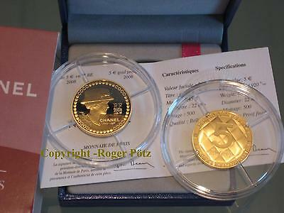 5 Euro 2008 Chanel Gold PP 1/4 Unze < 100 Exemplare in Europa