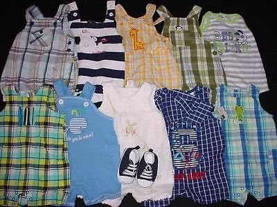 Used Baby Boy One Piece 0-3 Months Spring Summer Overall Shorts Clothes Lot