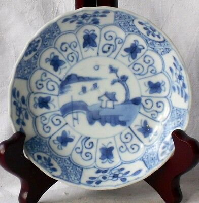 C18Th Chinese Ca Mau Shipwreck Cargo Blue And White Dish With Wavy Rim