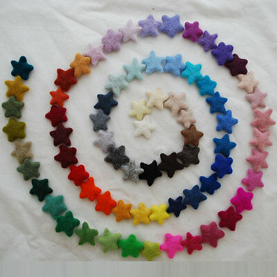 100% Wool Felt Stars - 100 Felted Stars - Pick & Mix from 90 colours