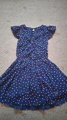 M&S navy dress party age 10-11