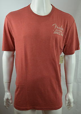 Lucky Brand Fender Men's T shirt XL Guitar Since '46 Graphic tee Coral NEW NWT