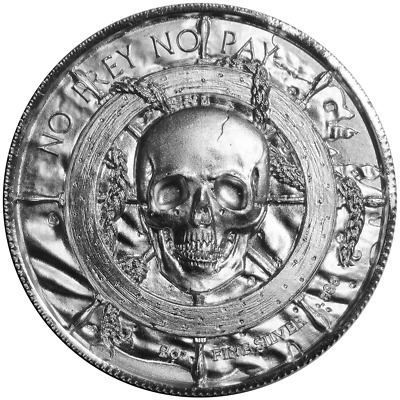 2 Troy oz The Privateer Siren .999 Fine Silver Ultra High Relief Round