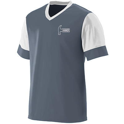 Hammer Men's Bite Performance Jersey Bowling Shirt Dri-Fit Graphite