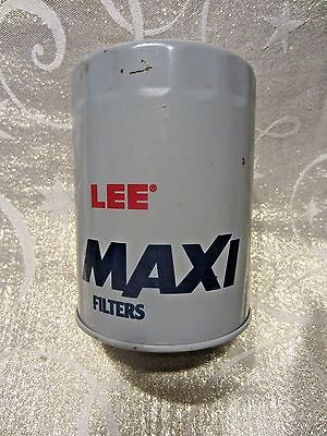 Vintage Lee Maxi Oil Filter Bank metal coin change shop garage advertising retro