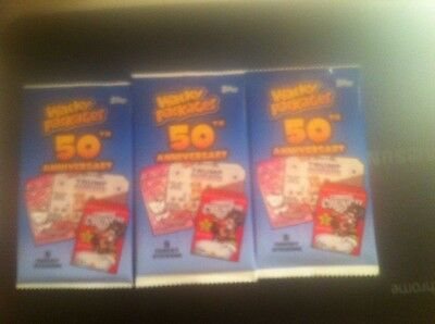 Lot Of 3 2017 Topps Wacky Packages Guaranteed #ed 50/10/1 Parallel Card Hot Pack