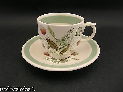 Woods Ware Retro Clovelly Vintage Demitasse Cup Saucer England c1960s Wood Sons